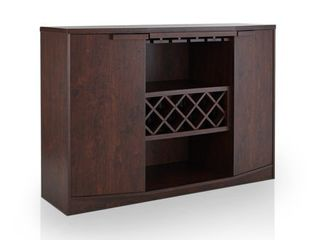 Vintage Walnut   Furniture of America Towe Contemporary 51 inch Wine Bar Buffet   Retail 378 99