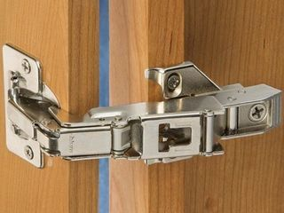 Pair of Blum 170 degree Clip Top Face Frame Screw on Cabinet Hinge with Mounting Plate