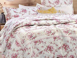 Finely Stitched King Quilt Set