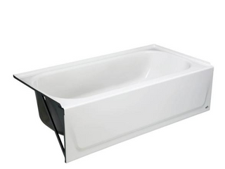 Bootz   Maui   Porcelain Finished Steel Bathtub   White   60in x 30in x 16 5 8in