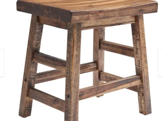 Carbon loft Bahamondes 20 inch Wood Dining Stool   Retail 87 49