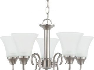 Sea Gull lighting 31808 962 Chandelier with Satin Etched Glass Shades  Brushed Nickel Finish