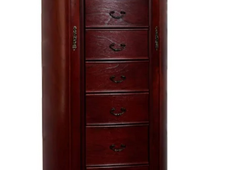 Cherry   Daley Oval Standing Jewelry Armoire   Retail 309 00