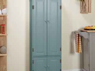 Simple living Extra tall Cabinet Antique Blue Antique
