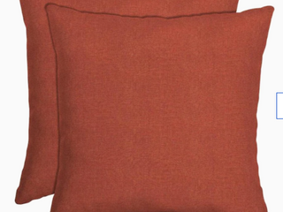 Arden Selections   Square Pillow  Red