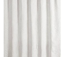 Ella European Matelasse Shower Curtain White