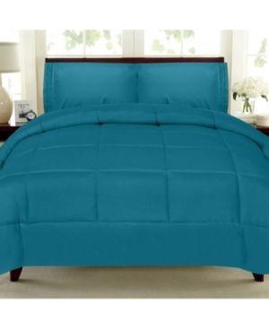 Solid Color Box Stitch Down Alternative King Comforter