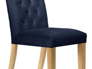 Skyline Furniture   Velvet Blue Tufted Dining Chair