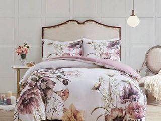 Madison Park Cassandra Full Queen 3 Pc  Cotton Printed Duvet Cover Set Bedding