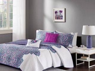 Intelligent Design Katarina Purple Coverlet Set Queen