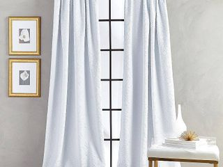 84 x52  Bloomsbury Poletop lined Curtain Panel White   CHF Industries   Set of 2