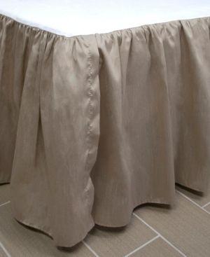 Queen Thread and Weave Bristol Bedskirt   Retail 149 35