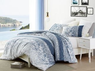King Distracted Blues Oversized Duvet Cover Retail 106 99