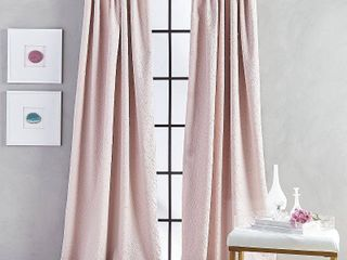 Set of2 84 x52  Bloomsbury Poletop lined Curtain Panel Blush   CHF Industries