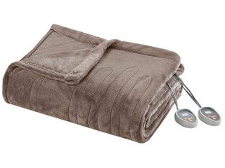 Plush Electric Blanket  Queen  Mink   Beautyrest