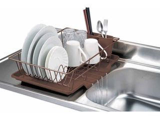 Bronze Finish   Black Home Basics 3 piece Dish Rack Drainer Set
