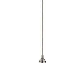 Carbon loft Reno 1 light Brushed Nickel Mini Pendant Retail 94 39