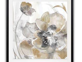 30 X 30   Taupe Spring Poppy I  Framed Giclee Print   Retail 109 99