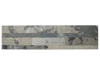 Aspect 6 x 24 inch Medley Slate Peel and Stick Stone Backsplash