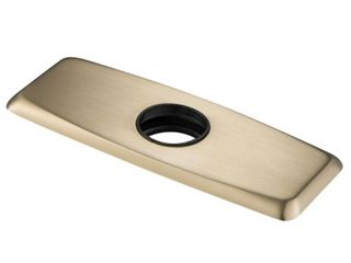 Brushed Gold   Kraus BDP01 Deck Plate for Bathroom Faucet