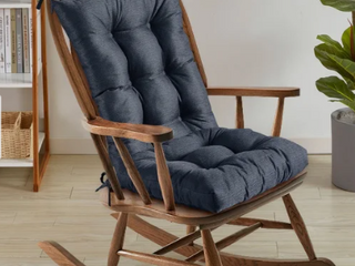 Navy  Sweet Home Collection Rocking Chair Cushion Set