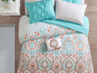 6pc Twin Xl Skylar Comforter and Sheet Set Aqua
