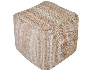 Beige  Beverly Handcrafted Boho Fabric Pouf by Christopher Knight Home Retail 101 49