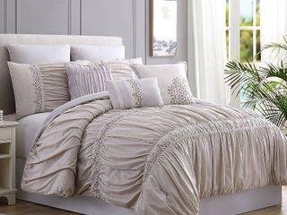 8 Piece lace   Embellished Comforter Set   Rialto