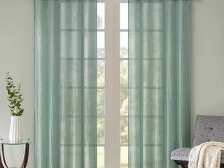 Home Essence Avery Solid Crushed Window Panel Pair  Set of 2