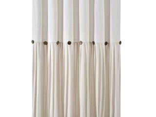 Off White  lush Decor linen Button Shower Curtain Retail 79 98