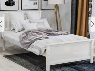 White   Copper Grove Dalby Twin Wood Platform Bed   Retail 277 49