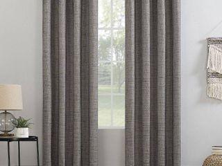 84 x52  Kline Burlap Weave Thermal 100  Blackout Grommet Top Curtain Panel Beige Brown   Sun Zero