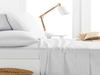 Milano Collection  King  Ivory   Full Porch   Den Jess 1000 Thread Count Cotton rich Deep Pocket Sheet Set