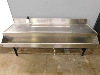 6 Foot Ice Well w Cold Plate