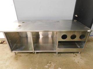 Stainless Steel Table w Undershelves