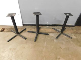 3 Dining Height Table Bases