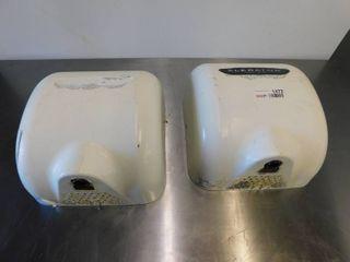 2 Xlerator Wall Mount Hand Dryers
