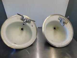 2 Drop in Hand Sinks