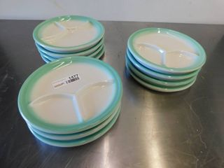 Set of 11 Antique Divided Plates
