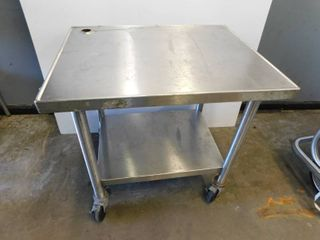 Heavy Duty Stainless Table on Casters