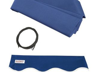 Blue  AlEKO Replacement Fabric for Retractable Awning 13x10ft More Options  Retail 101 49