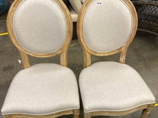 Pair of Rounded Back Country French Dining Chairs