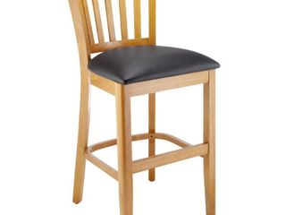 Single Vertical Counter Stool  Cherry