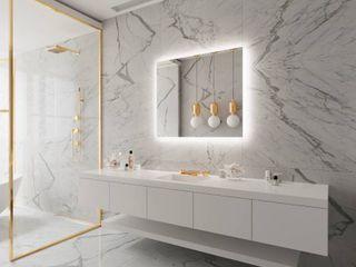 36 00D748  36 a48 inch Anti Fog lED lighted Bathroom Mirror   36 a48  Retail 549 49