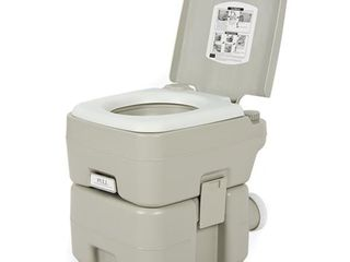 Grey  CHH 1020 20l Portable Removable Flushing Toilet Outdoor Camping Potty Grey Retail 79 98