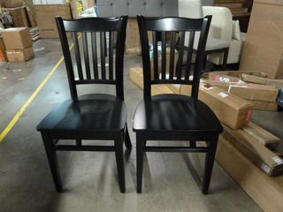 Pair of Black Dining Chairs