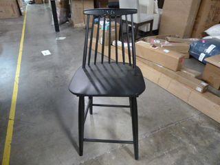Single Black Kitchen Dining Chair