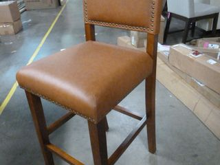 Fancy Brown Barstool with Nailhead Accents