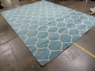 10 5  x 10  Blue Pattern Area Rug