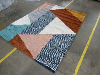 5  x 7 2  Colorful Geometric Area Rug